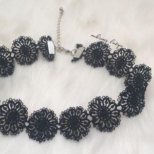 Dreamcatcher Black Flower Choker/ Necklace